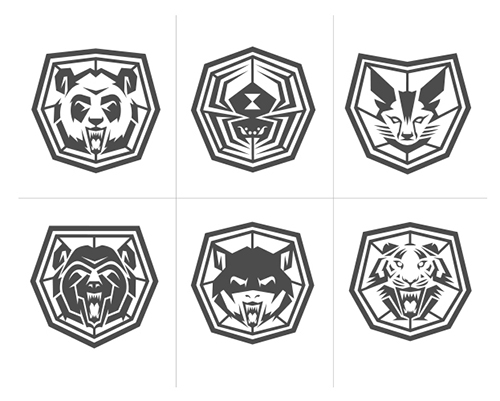 Classifications: Clockwise -- Panda, Spider, Jackal, Kitten, Bat, Tiger