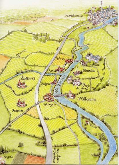 The Ciron genteelly meeting the Garonne.