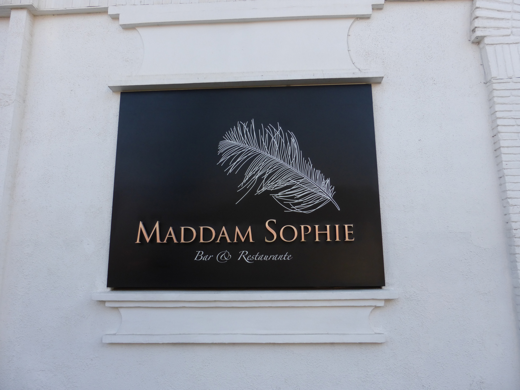 ...two blocks away, we saw this!  So, it's Maddam Sophie now?