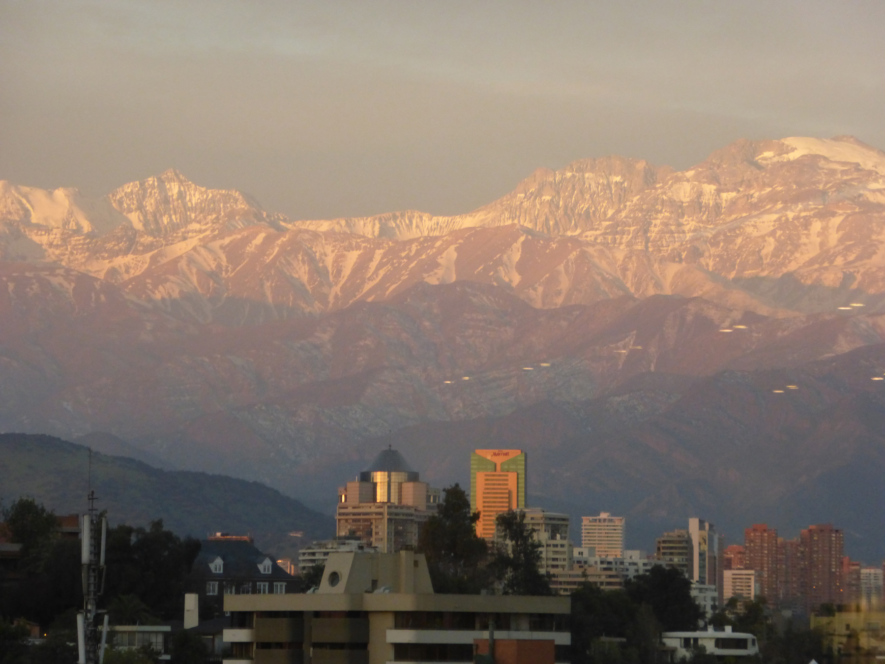 One last view of The Andes from Santiago. We leave in the morning for the coast and Puerto Montt!