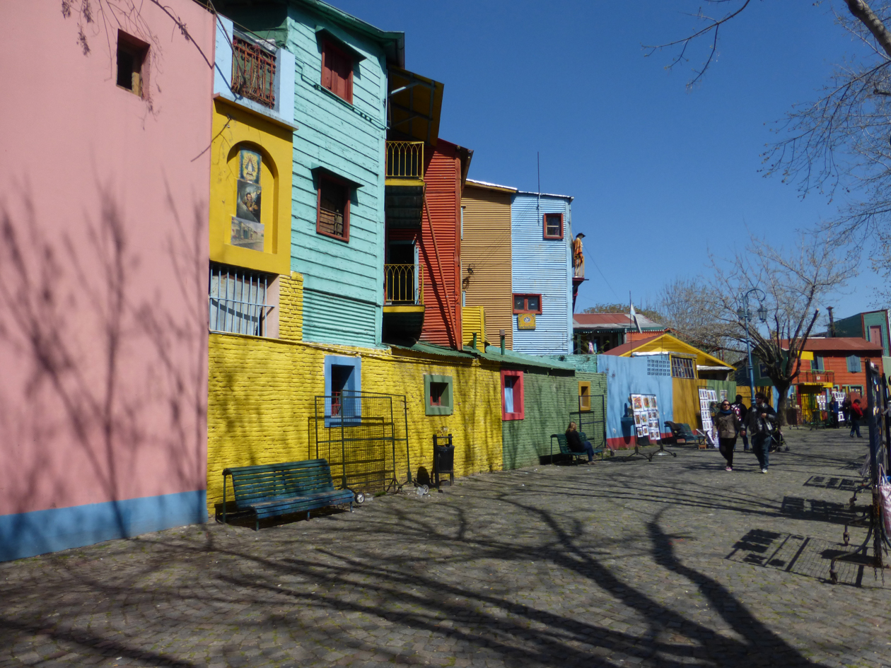 Caminito is street museum that focuses on the early immigrants who came to Argentina in the 1800's. It's in the La Boca area where The Tango was born.