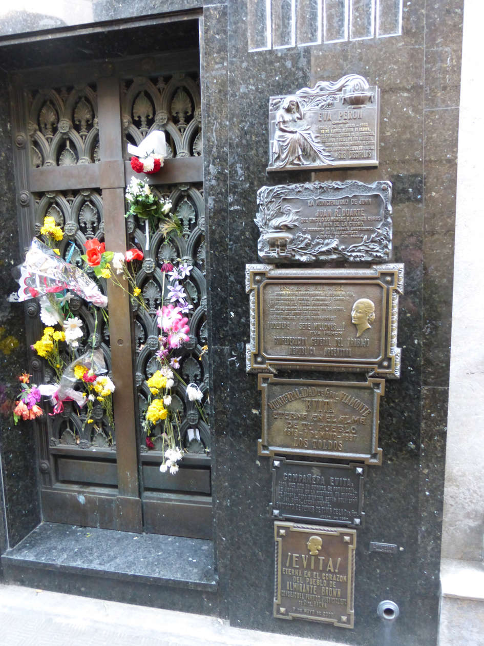"""People still leave fresh flowers at Evita's tomb. We promise a less funereal (less stuff about dead people) post tomorrow!                0    0    1    7    44    Kikio Creative Communications    1    1    50    14.0                          Normal    0                false    false    false       EN-US    JA    X-NONE                                                                                                                                                                                                                                                                                                                                                                                                                                                                                                                             /* Style Definitions */ table.MsoNormalTable {mso-style-name:""""Table Normal""""; mso-tstyle-rowband-size:0; mso-tstyle-colband-size:0; mso-style-noshow:yes; mso-style-priority:99; mso-style-parent:""""""""; mso-padding-alt:0in 5.4pt 0in 5.4pt; mso-para-margin:0in; mso-para-margin-bottom:.0001pt; mso-pagination:widow-orphan; font-size:12.0pt; font-family:Cambria; mso-ascii-font-family:Cambria; mso-ascii-theme-font:minor-latin; mso-hansi-font-family:Cambria; mso-hansi-theme-font:minor-latin;}"""