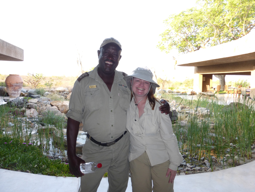 This is Joe - our amazing ranger.  Look closely - Melissa is wearing her regal headgear in case she meets the king of jungle.