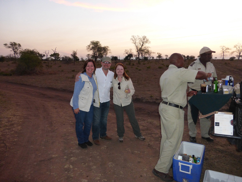 Not only were they great guides, they were also very gracious hosts.  Yes, we stopped for cocktails each evening to watch the sunset from the middle of the bush.  Safaris are thirsty work.