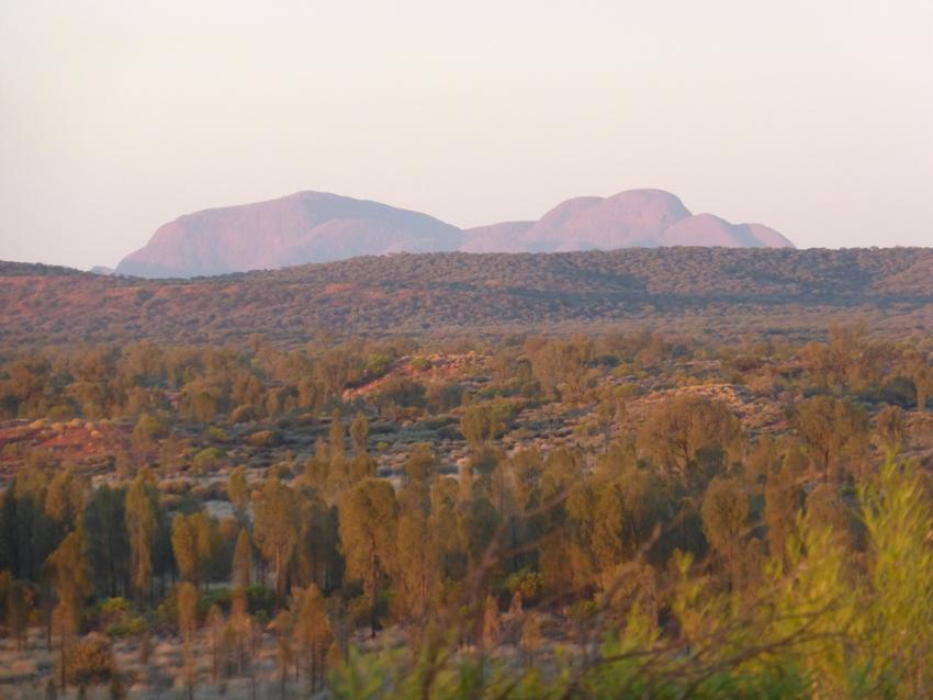 This is Kata Tujuta at sunrise.