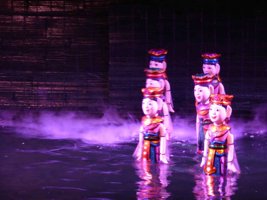 Seeing some ancient Vietnamese puppetry (the traditional water puppet show) was also part of our experience. It's hard to explain, but we all agreed it was unlike anything we'd ever seen before. And, for an extra $1.00 you are allowed to take photos during the show. Hmmm