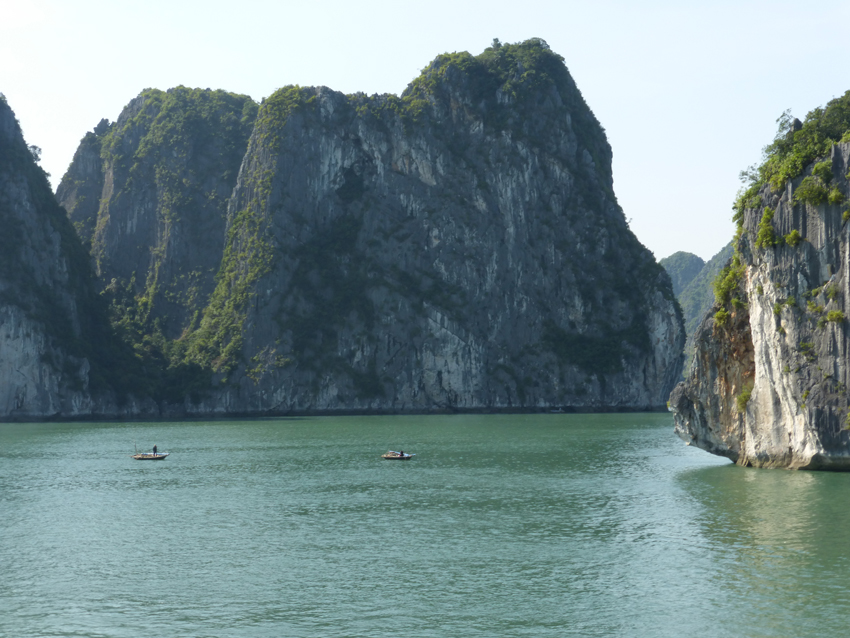 """According to legend, the bay was formed when a gigantic dragon – """"ha long"""" means descending dragon – plunged into the Gulf of Tonkin and created the outcrops by lashing its tale."""