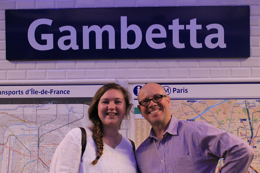 Then it was off to the Metro...