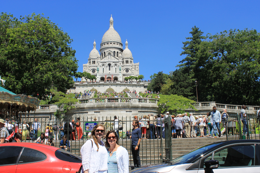 First stop...Sacre-Coeur, a major landmark in Paris, is also known as The Sacred Heart Basilica of Montmartre. The church is beautiful and the panoramic views from the top (the second highest point in Paris) make the trip (and, making our way through the crowds) even more worthwhile.