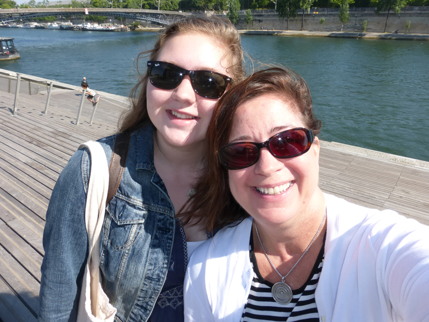 A quick selfie by The Seine on our way to Le Marais for shopping.