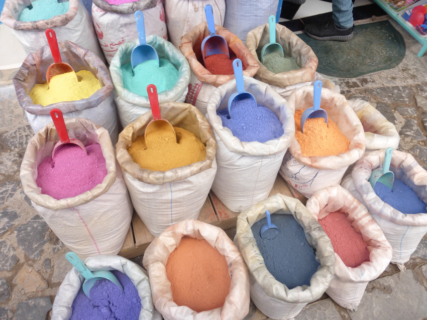 These are used to make colors for artwork, paint, leather goods, etc...