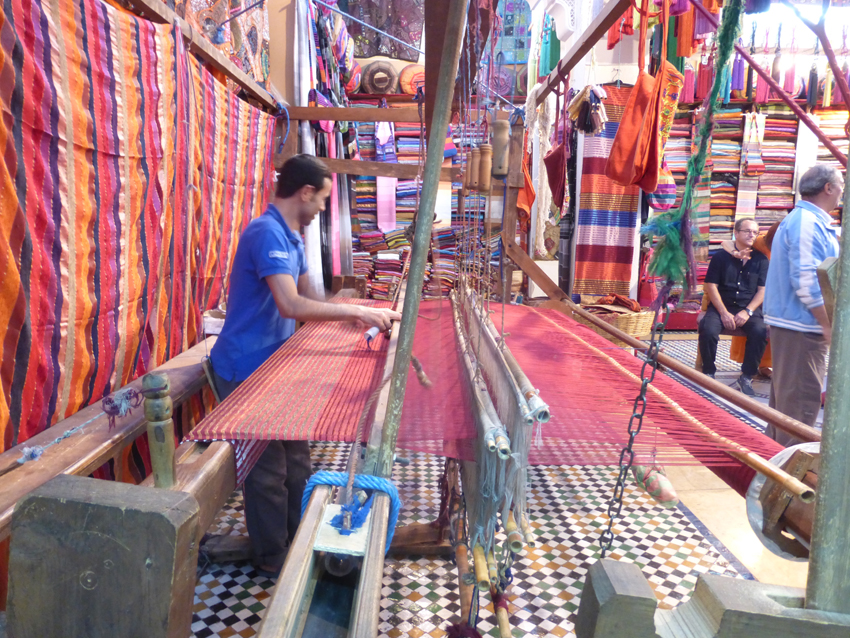 A weaver showing how much work goes into each and every handmade product.