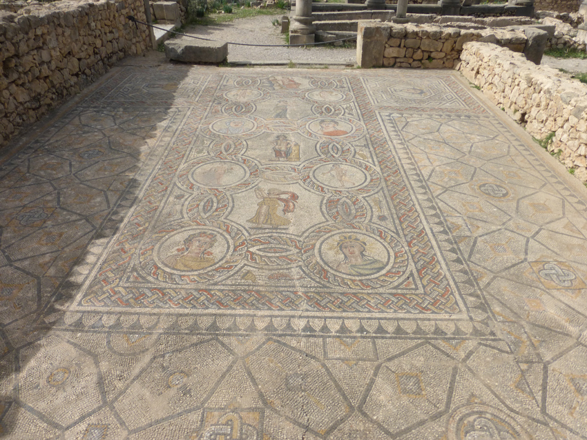 There are a lot of these beautiful mosaics around the site.  Unfortunately, due to lack of funding, they sit outside, unprotected from the elements.  It's hard to believe how old these are.