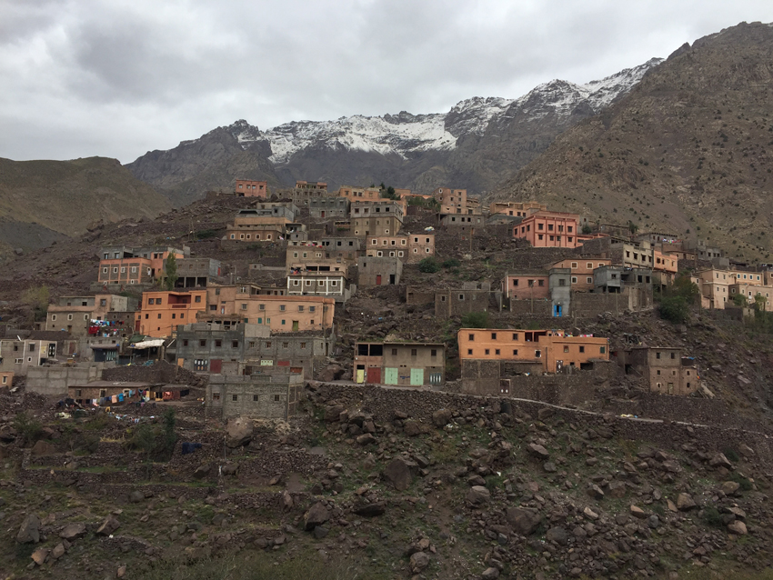 A traditional Berber village in the High Atlas.