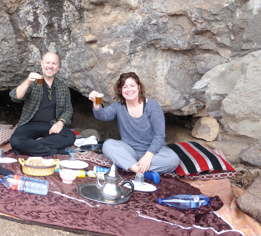 Our hotel delivered lunch (via mule) to us on the mountain. A little mint tea mid-hike. So civilized!