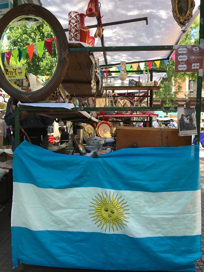A day of shopping at the flea markets in San Telmo.