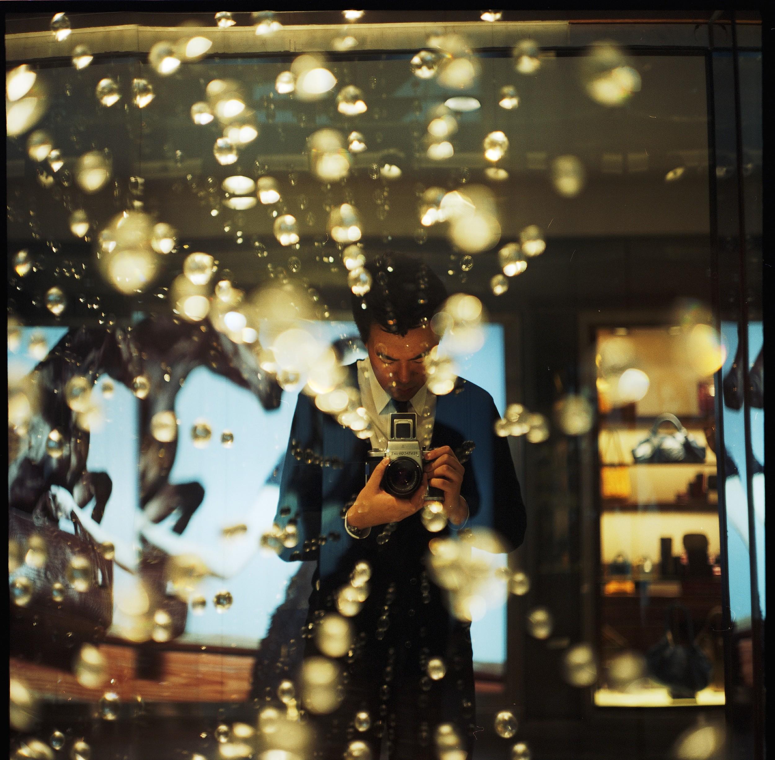 self-portrait, 2008 - shot on portra 400vc medium format film, pentacon six