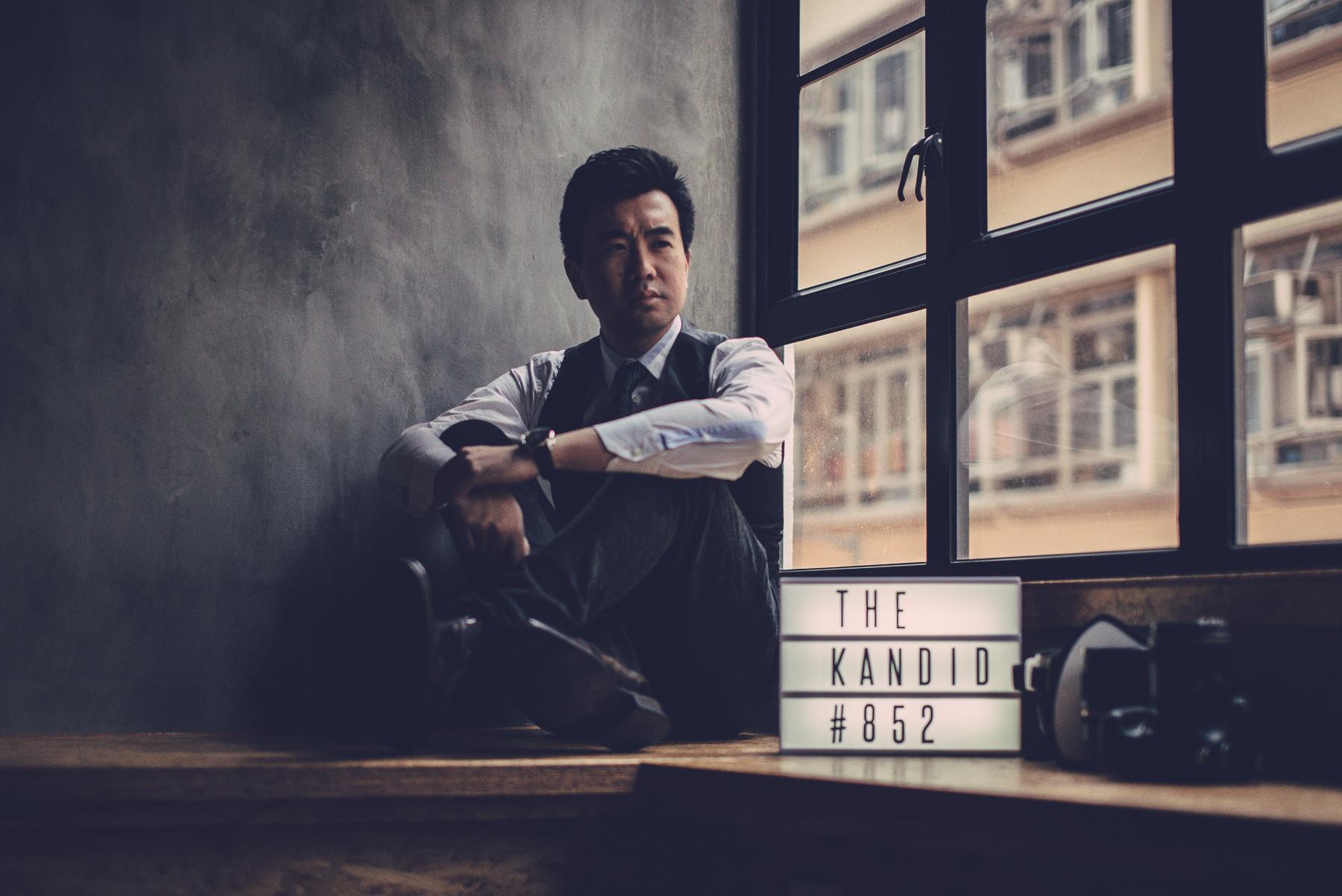 Justin Lim, self-portrait at The Kandid, 2015