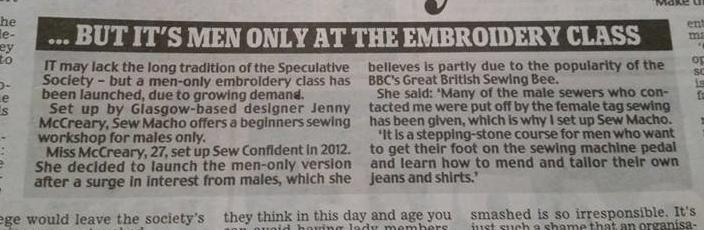Daily Mail 6 November 2014