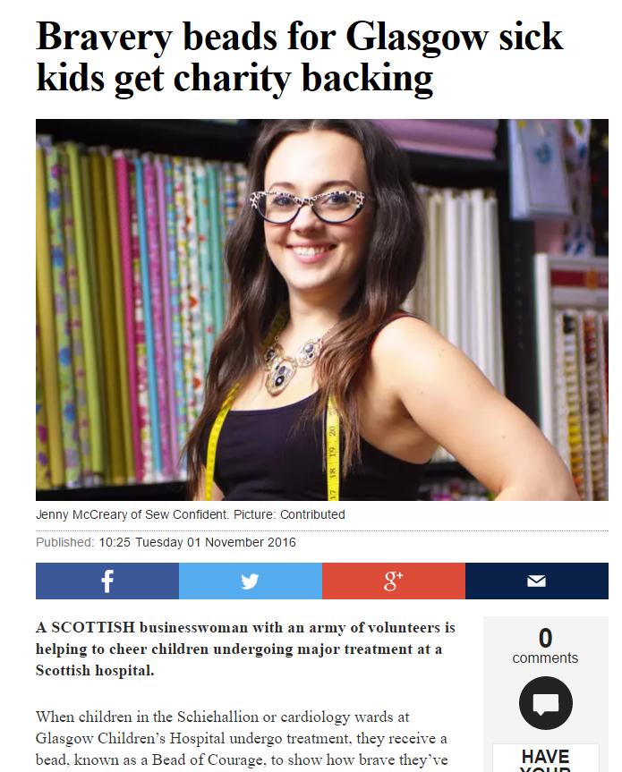 Scotsman - 1st November 2016 - click image for article