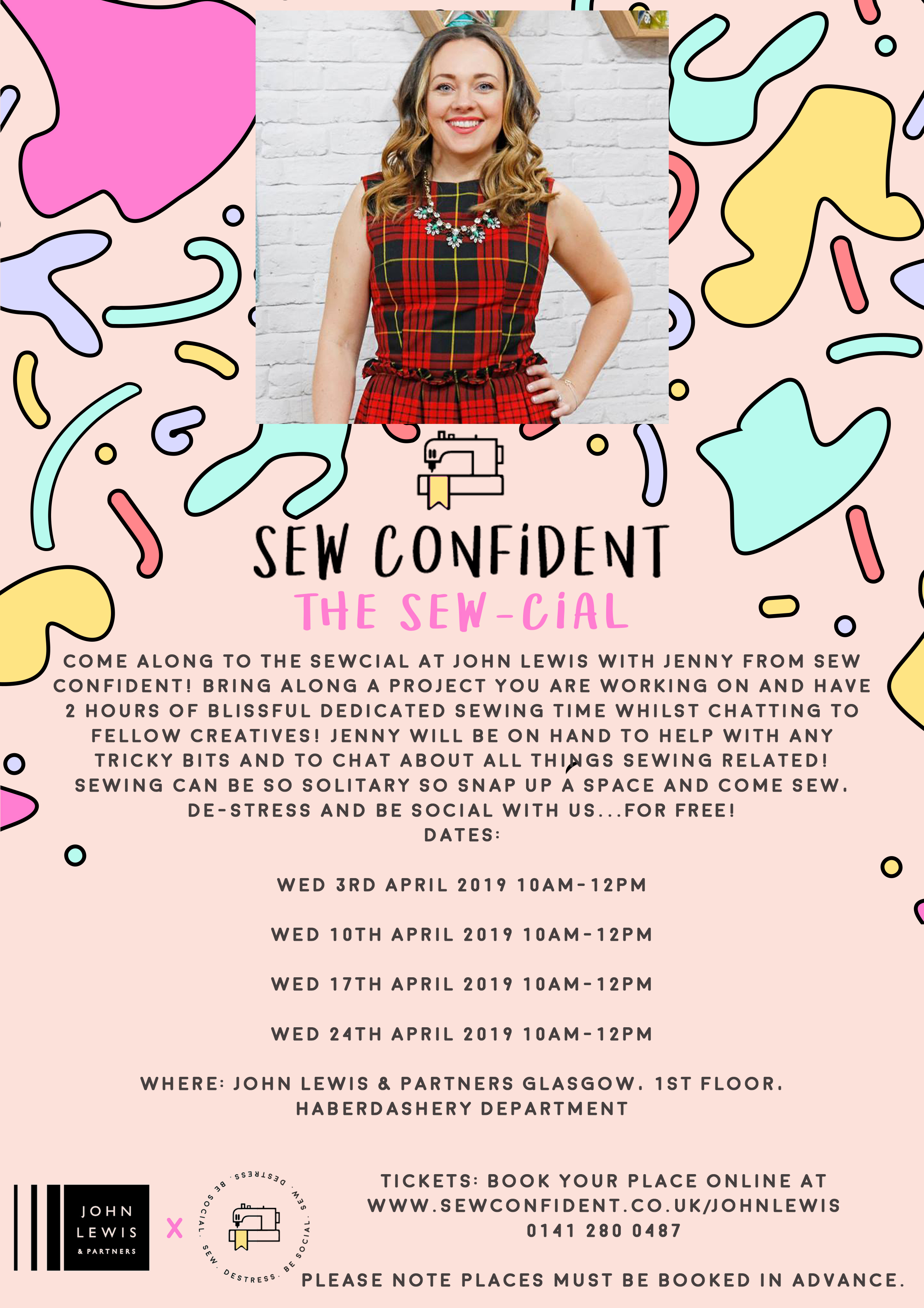 john lewis and sew confident classes