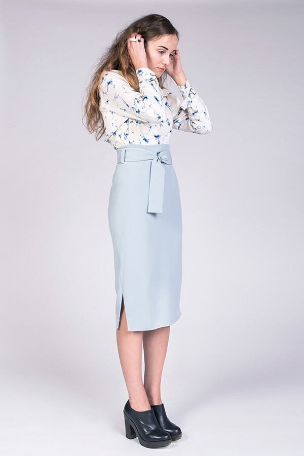 Pulmu High-waisted Pencil Skirt  by NAMED.