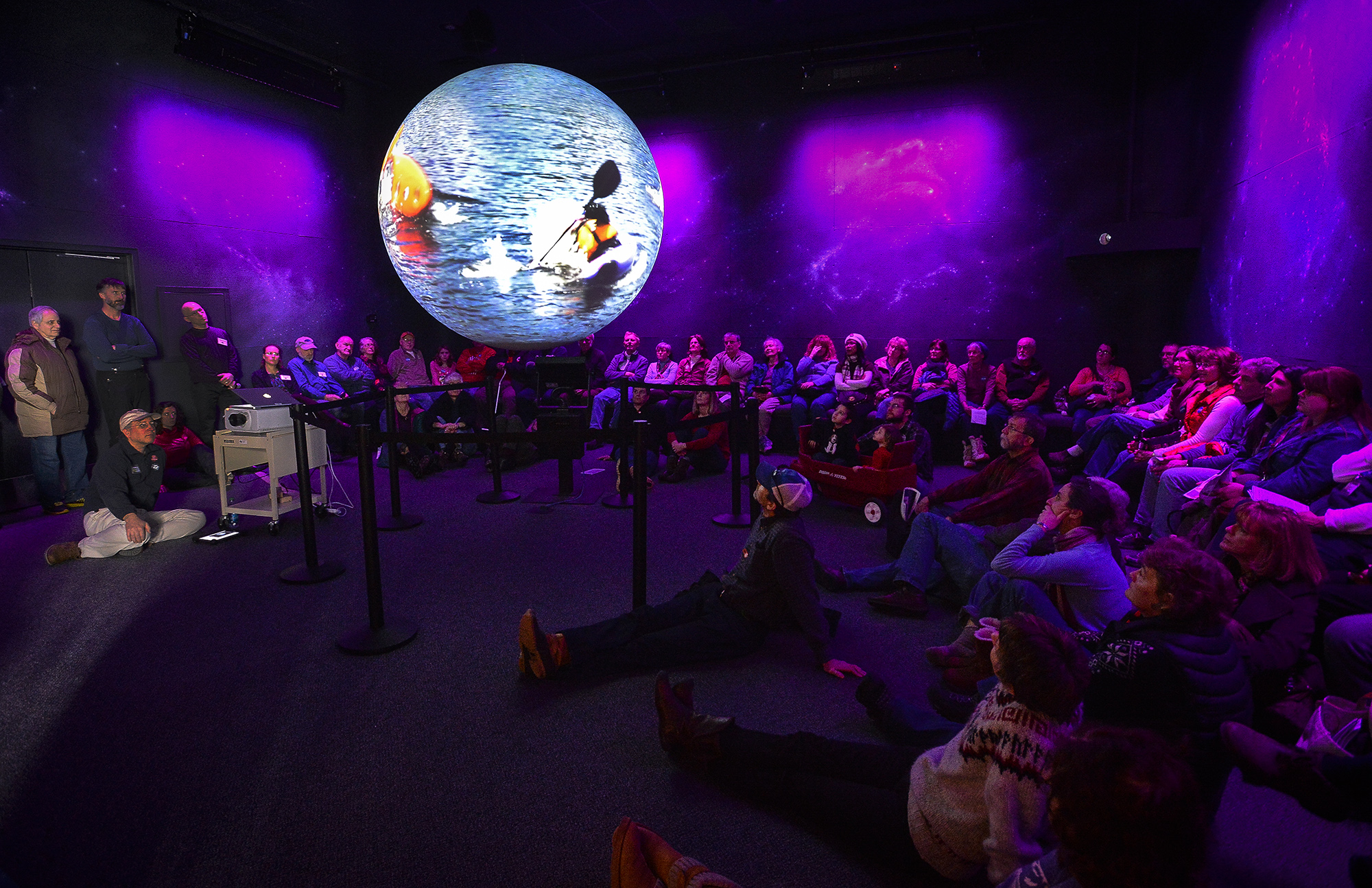 This was one of many audiences who crowded in to the Planet Adirondack Theater at The Wild Center yesterday for the premiere of WATER FALLS.