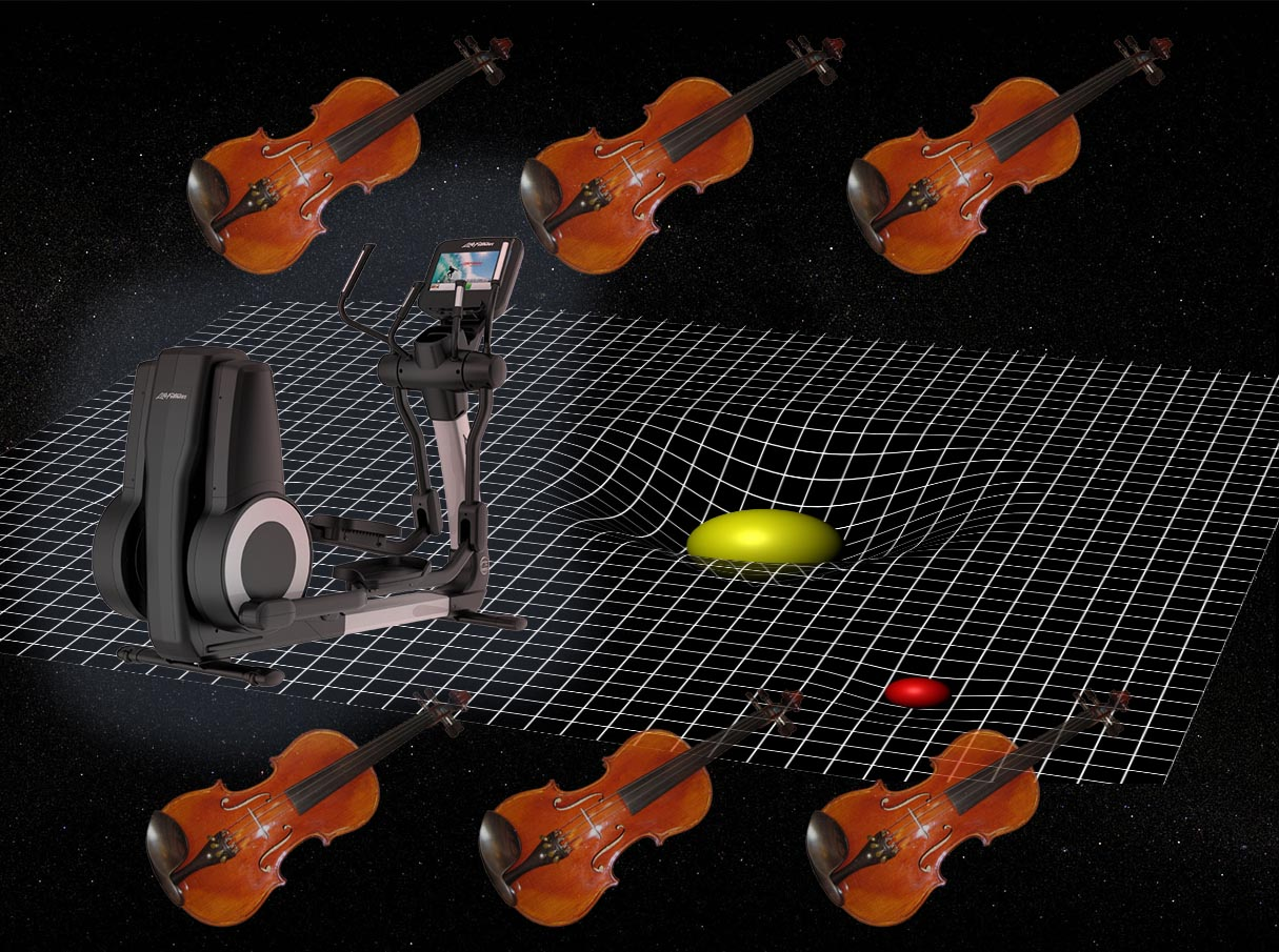 Astrophysics...at the gym...with a hint of violin. Things connect. Then you must choose.