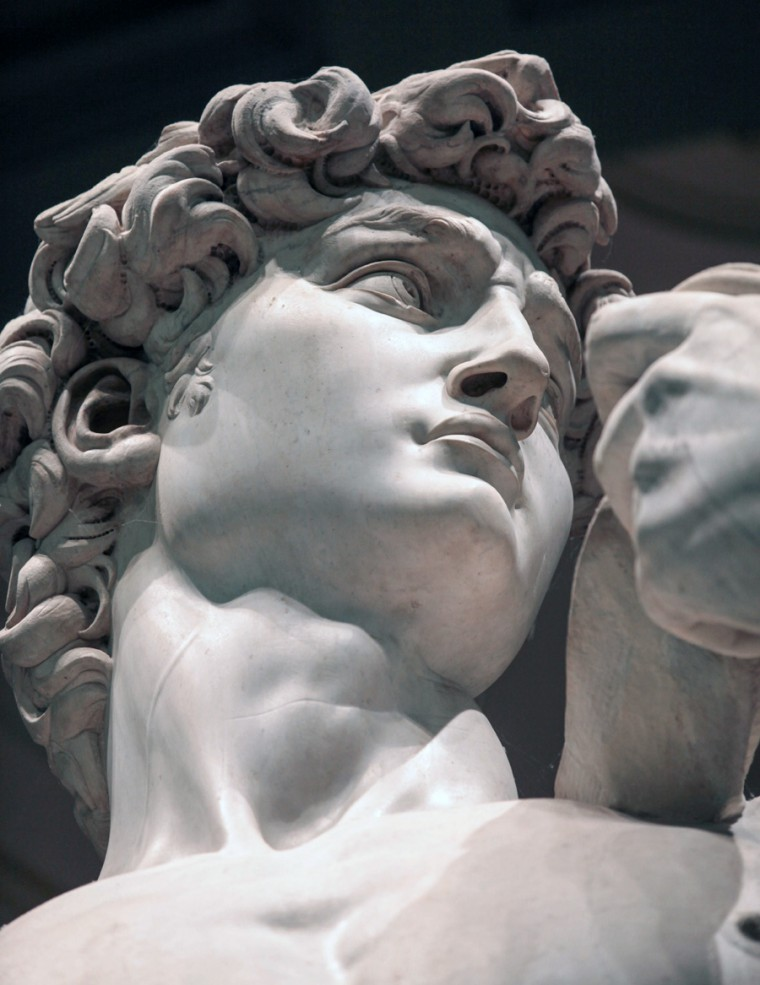 Michelangelo's David radiates a clarity of intention that makes it appear timeless. But before the great sculptor set to work, it didn't exist. The opposite inevitably is also true: someday in the future the marble masterwork will return to the Earth.