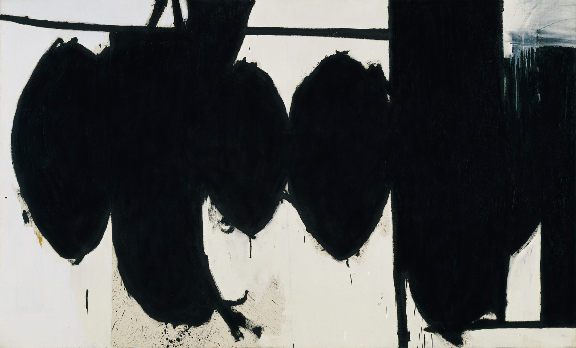 While he returned again and again to these familiar black ovals and verticals, painter Robert Motherwell did not offer literal explanation about why they compelled him so much, appearing in dozens of his works.  (Courtesy  www.metmuseum.org )