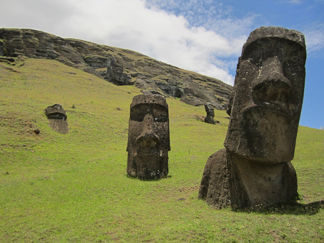 These faces come from a past that stretch into territory completely separate from their source quarries.