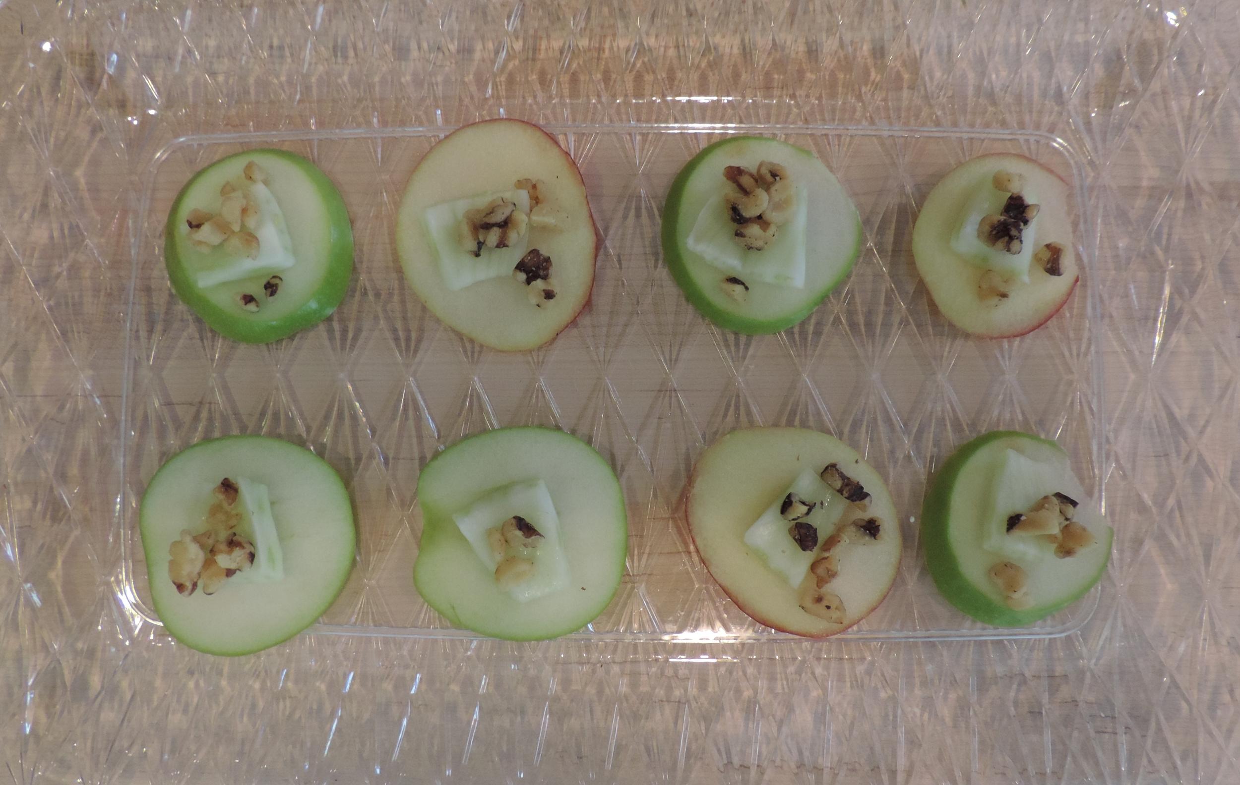 Apple Fennel Walnut Bites