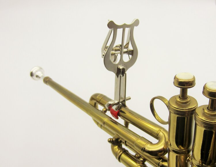 Trumpet Lyre - Clamp-on Style (#502N) Mounted