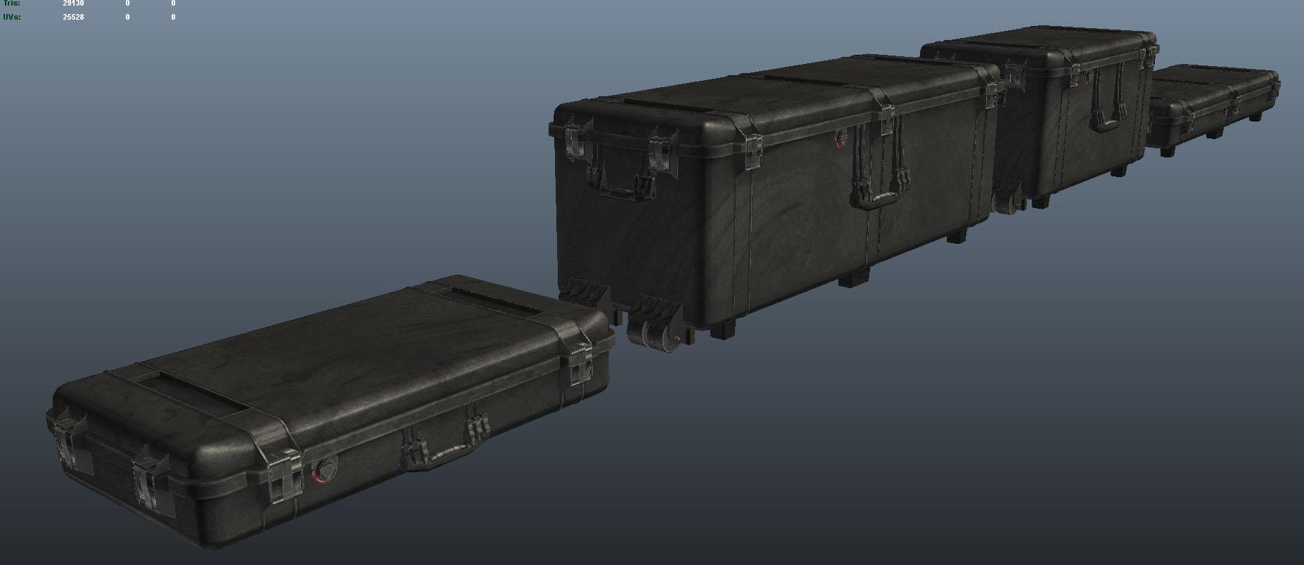 Maya viewport, modular variations