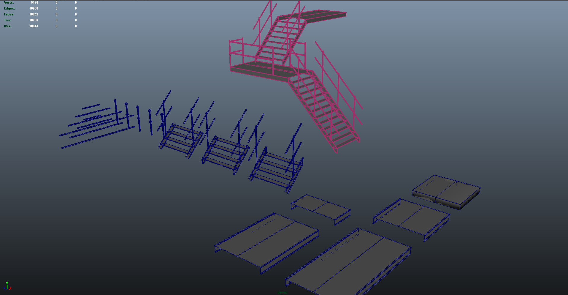 handrail & stairs modular sections