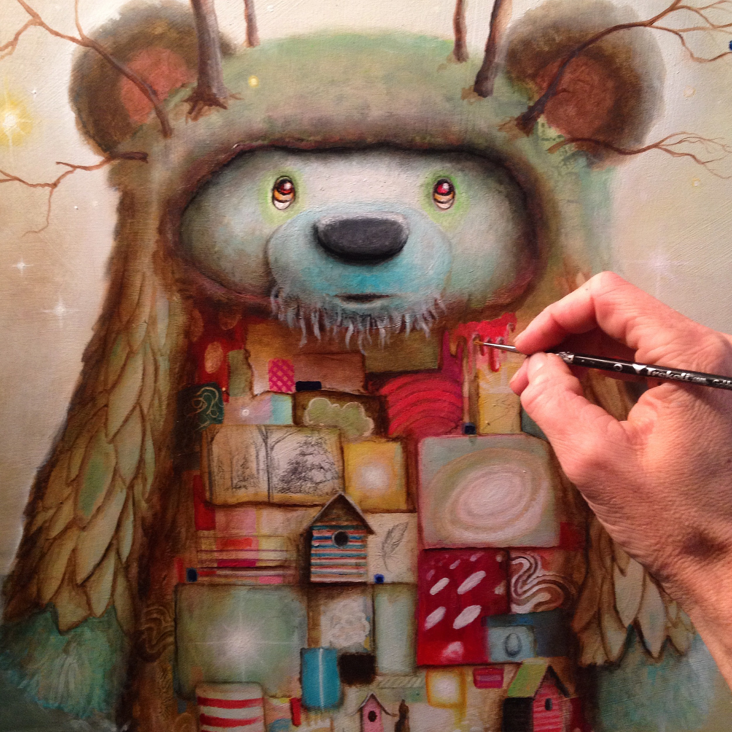 scott mills art - Pop Surrealism - Surrealism - Bear Painting - Bear Art -
