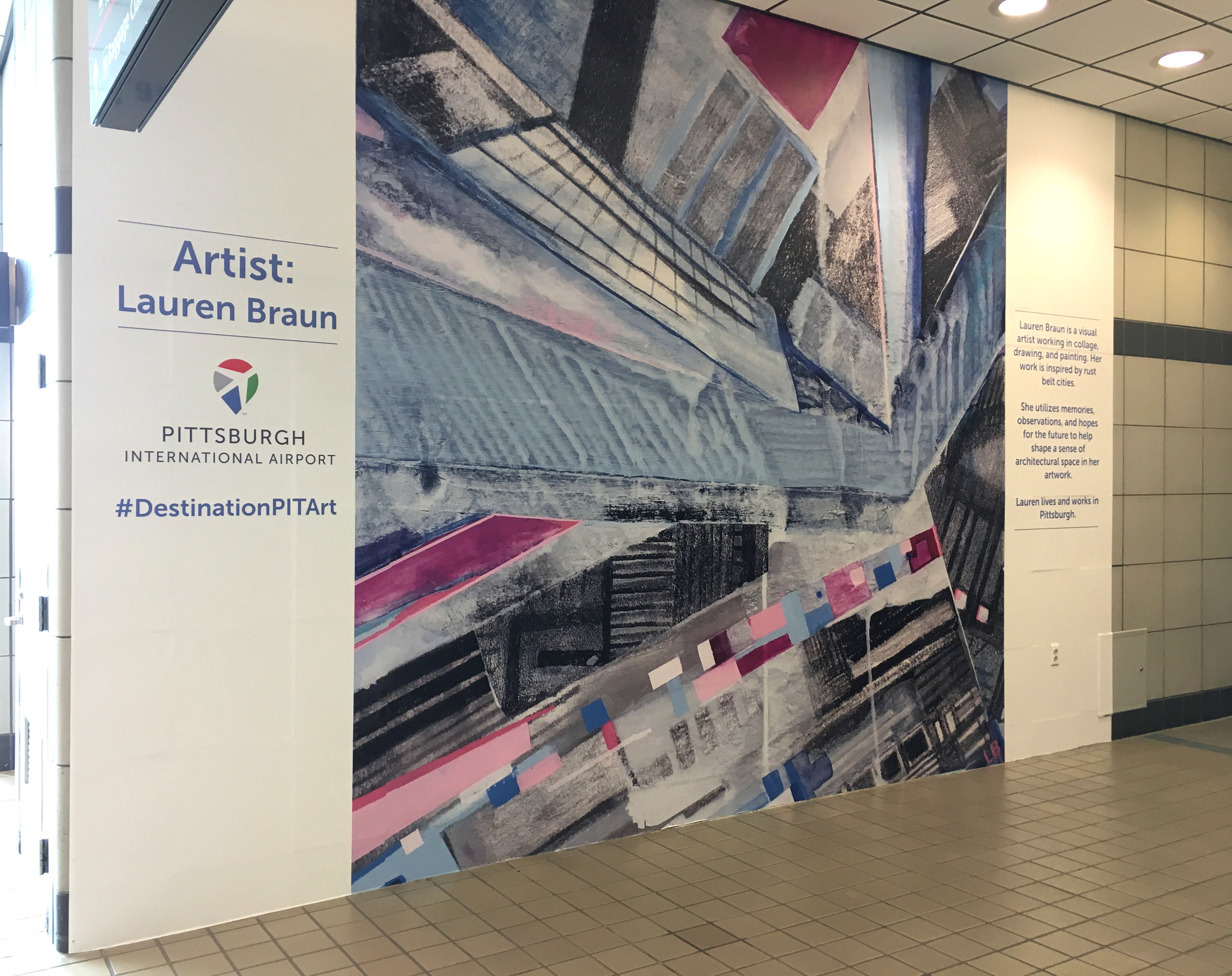 Transit Wall Mural, PIT Airport