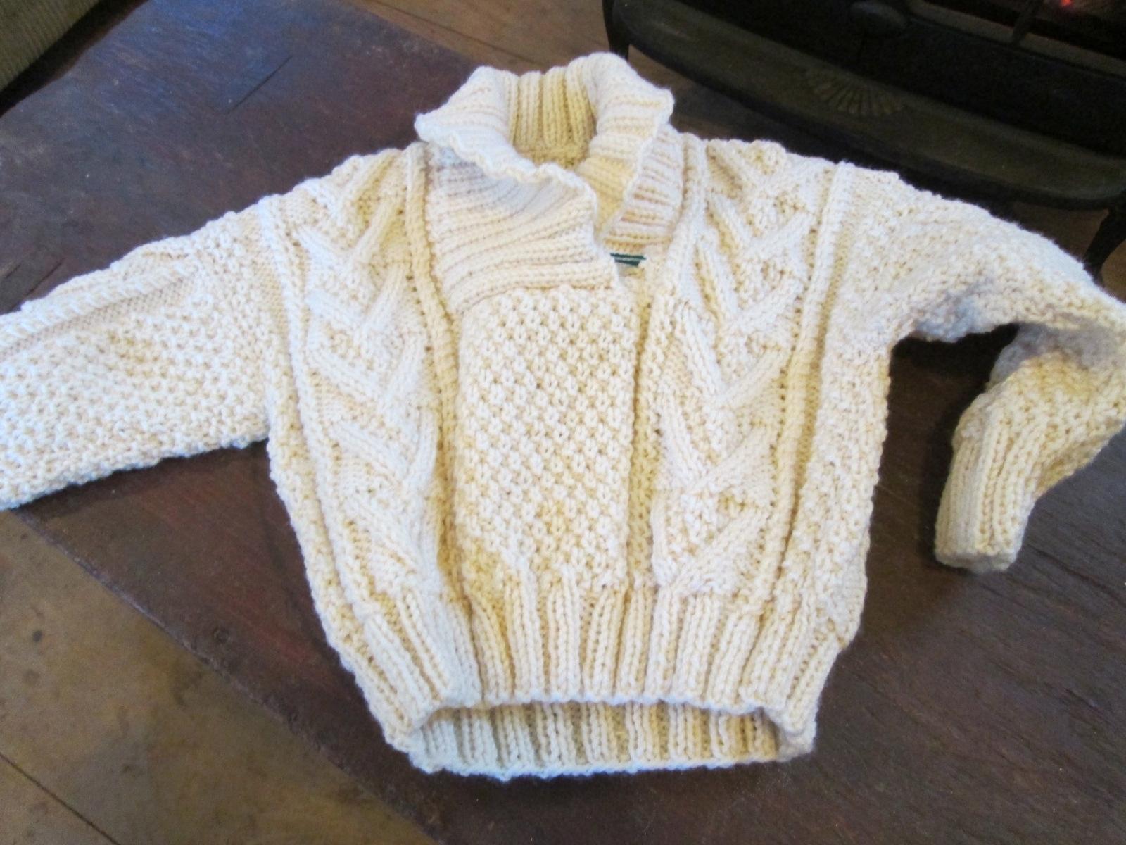 Angela's lovely child's washable sweater!