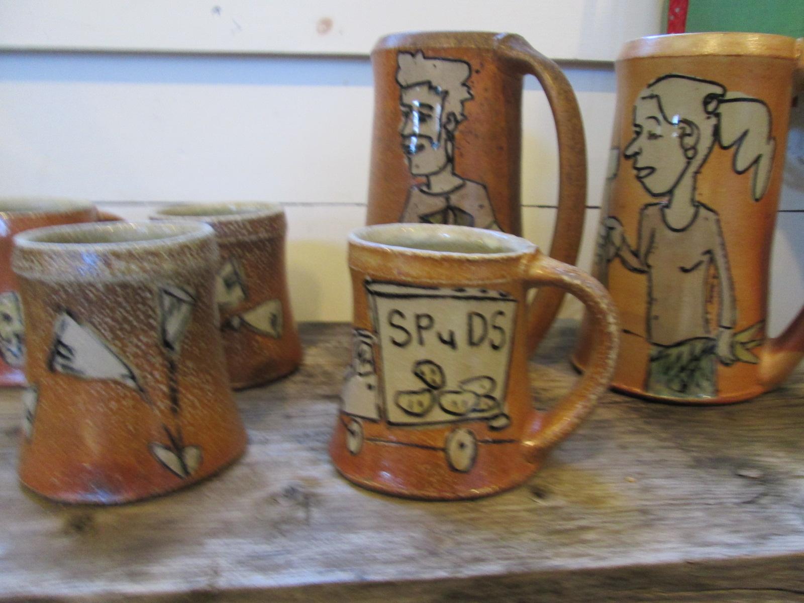 Jeffrey Lipton's wood fired salt ware.