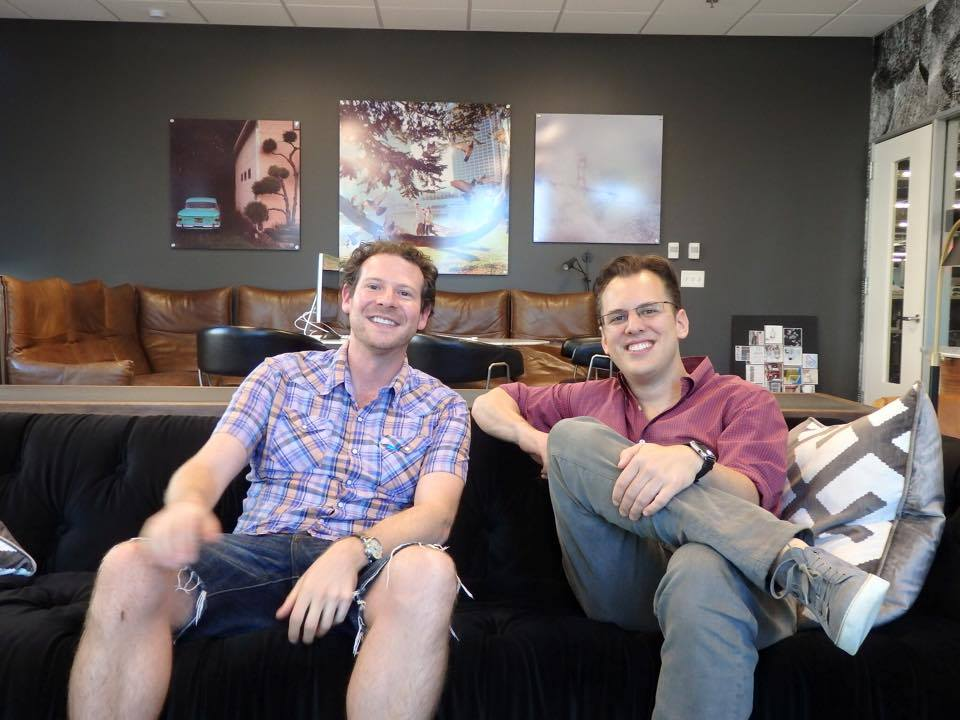 Olly Mann and Mike Krieger at Instagram HQ, September 2015