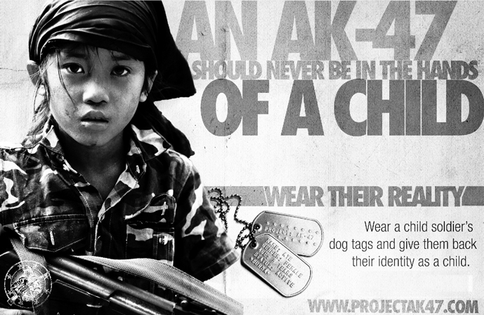 Wear Their Reality Child Soldiers Dog Tags