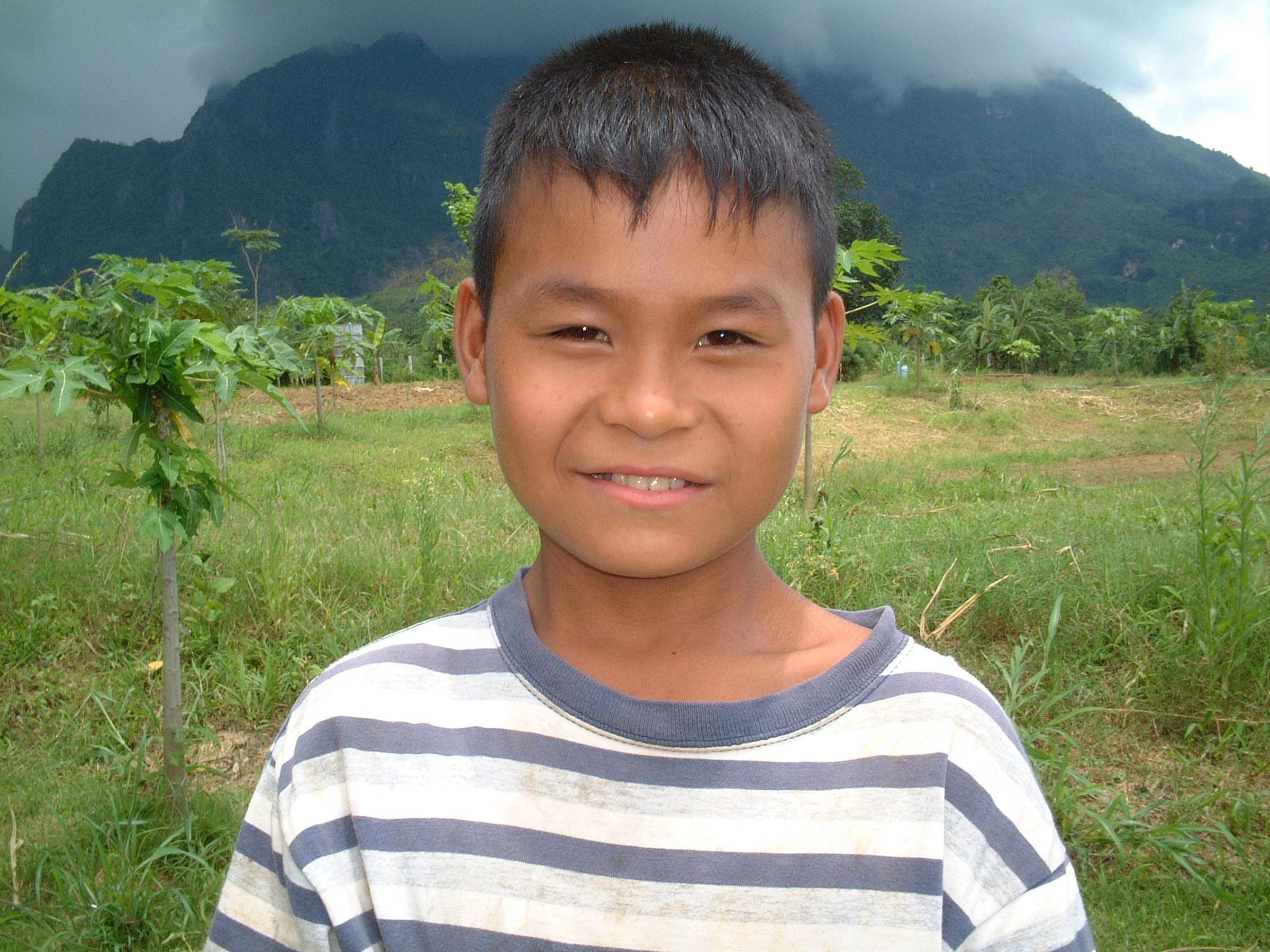 Boy with landscape
