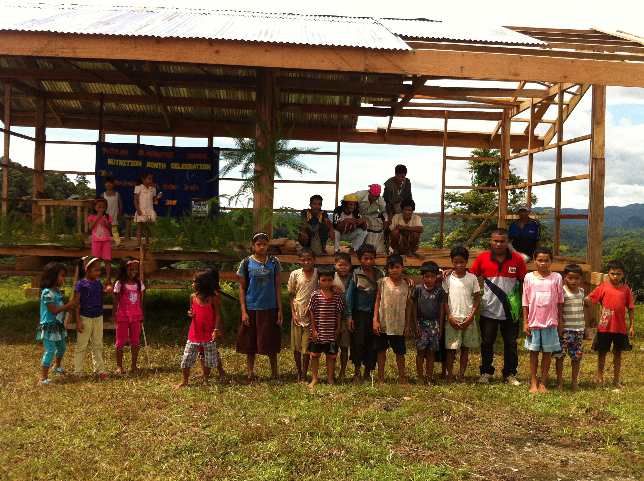 Tribal children begging for a school