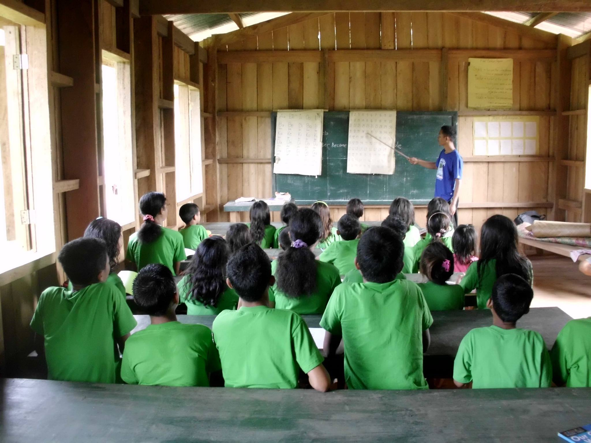 Students and teacher. (image via Myrna Lou Leagogo)
