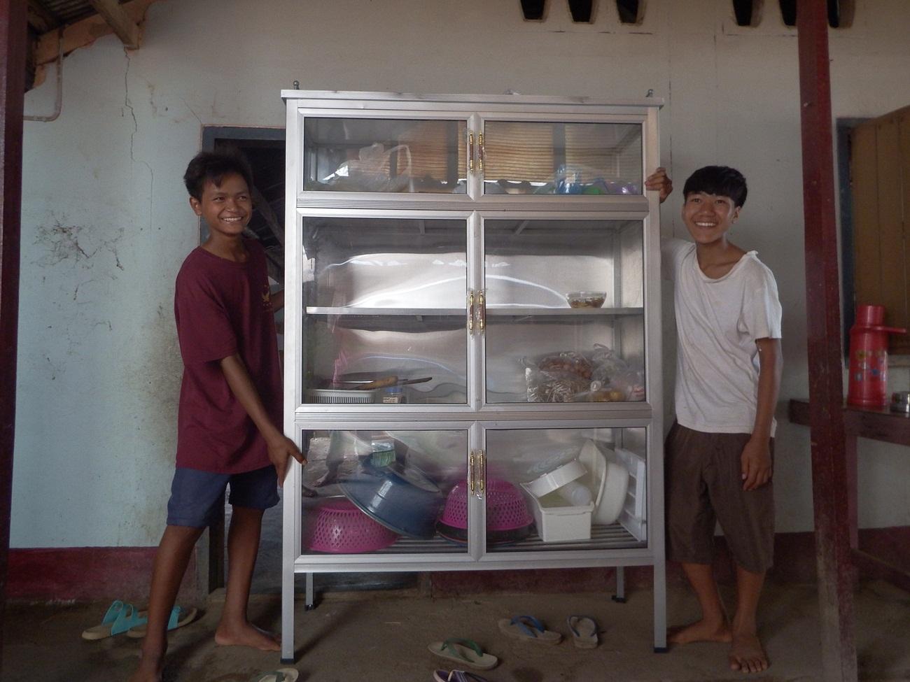 Children with new Cupboard.JPG
