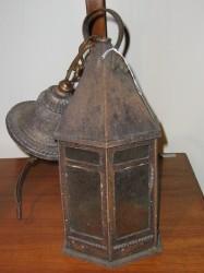 "Early 20th Century Lantern  - $325  Height: 23.5""  Width: 7"""