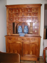 "French Cherry Apothecary Cupboard  - $5500  Height: x""  Width: x""  Depth: x"""