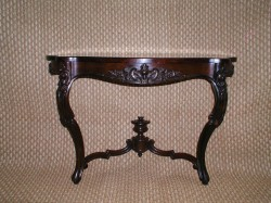 "Victorian Rosewood Console  - $2200  Height: 28.5""  Width: 46""  Depth: 16"""
