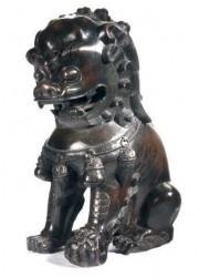 "19th Cen. Bronze Buddhistic Loin - $3600  Height: 18.5""  Width: 12""  Depth: 15"""