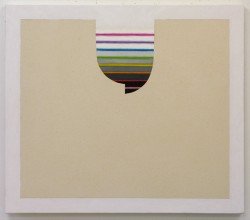 "2008 Hilary Irons ""Inverted Dome"" Oil & Acrylic on Canvas  - $2800  Height: 28""  Width: 32"""